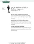 Big Data For Customer Engagement