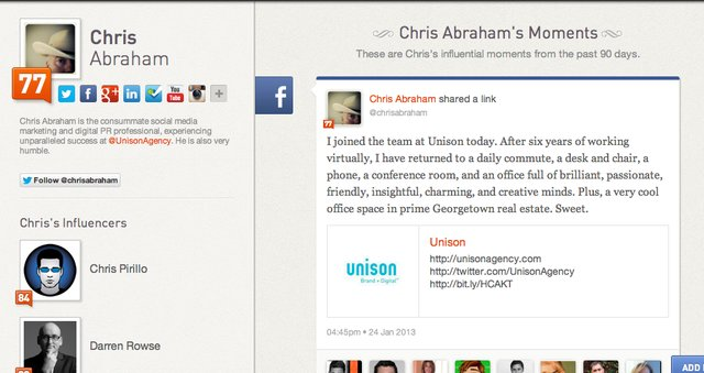 Chris- Klout