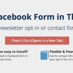 Amp up your Facebook page and generate more leads with a contact form