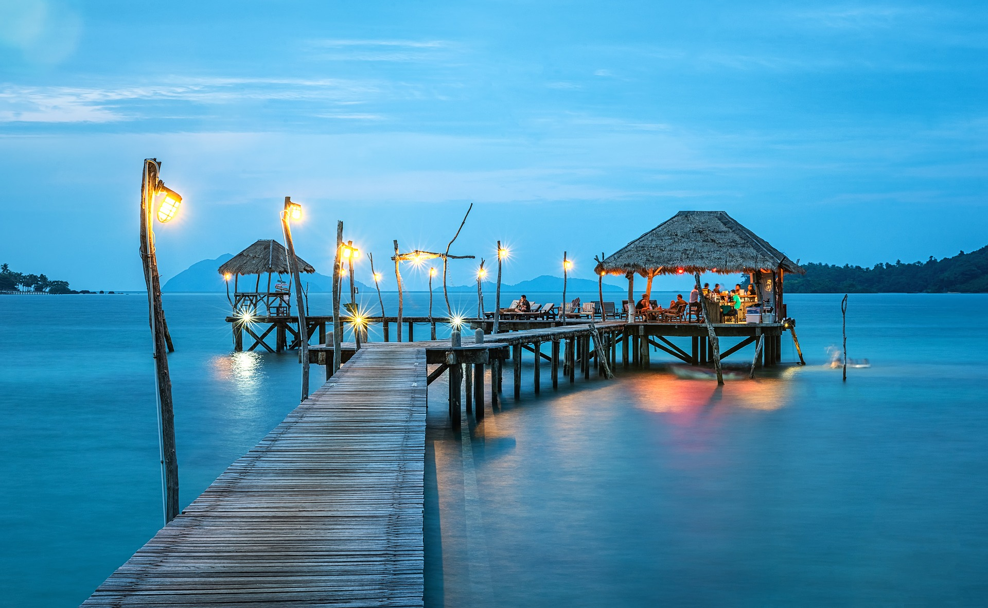 Night falls on a dock in the Yucatan (click to enlarge). Make sure to optimize your images for faster page loading times.
